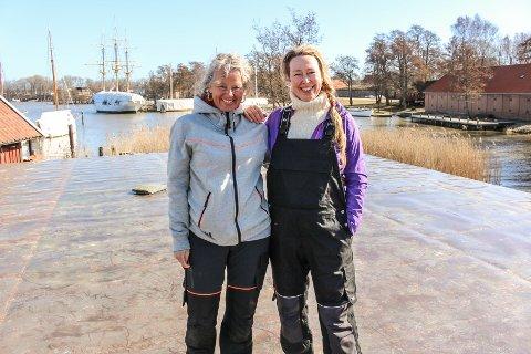 VOKSER: Arbeidene med Håpets Katedral går fremover i rekordfart. Her er prosjektleder Anne Skauen og katedralens mor Solveig Egeland.