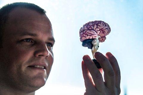 Får nyopprettet lederstillling: Klas Pettersen, hjerneforsker fra Fredrikstad, skal lede forskningssamarbeidet for kunstig intelligens: NORA. (Arkivfoto: Geir A. Carlsson)
