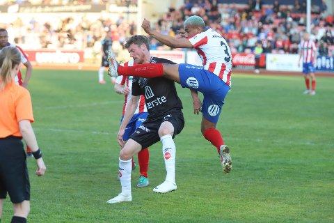 Tapte i Halden: Andreas Hagen spilte for FFK2 mandag kveld.