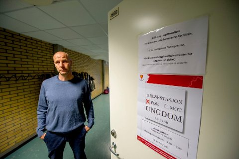 Gjennomfører uansett: Rektor på Kråkerøy ungdomsskole, Tore André Johansen, kan sammen med innleide vakter ha eksamen for 36 tiendeklassinger selv om det blir streik.