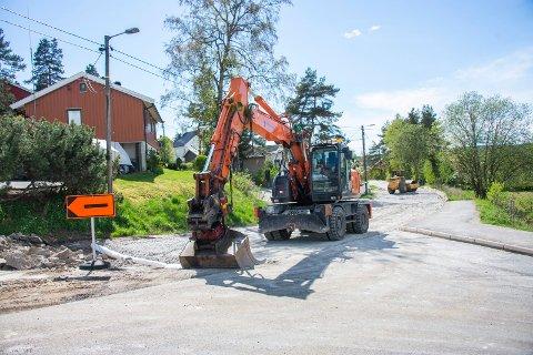 FÅR FORTAU: Paul Holmsens vei er en av veiene som skal prioriteres med 350 meter fortau fra Sandbækveien til Joruns vei. Dette er forventet å være ferdig høsten 2020.