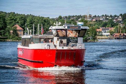 Rekord: Fergene satte rekord under TSR. 82.000 personer ble flyttet av de røde og hvite båtene.