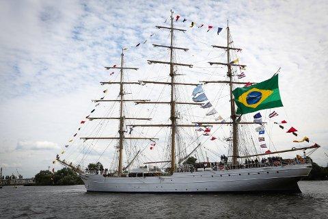 Skutefest: Torsdag braker Talls Ships Races løs. Det første skipet er allerede på plass.