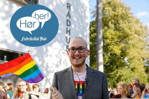 FESTIVALKLAR: Christoffer L. Mathisen er klar for Fredrikstad Pride, som denne gang feires en hel uke til ende. Foto: Ida Christin Foss