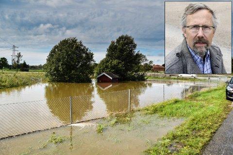 ETTERLYSER TILTAK: Fredrik W. Ellefsen, leder i Gudeberg lokalsamfunnsutvalg (innfelt), mener kommunen og veivesenet bør prioritere å utbedre undergangene under Habornveien.
