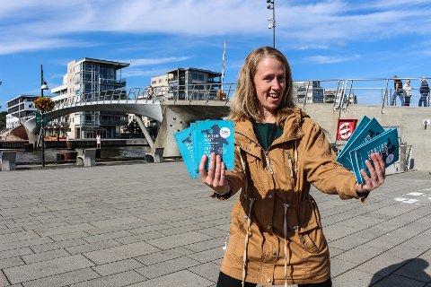 VELKOMMEN: Anette Havna Tømmerholen, prosjektleder for årets Kulturnatt, kan by på mange arrangementer fredag 13. september. Allerede fra klokken 12.00 vil det være mulig å få gratis kulturopplevelser.