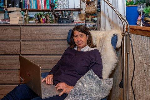 Gode tall: Pensjonistpartiets nye listetopp Marianne Kristiansen kunne smile bredt mandag kveld.