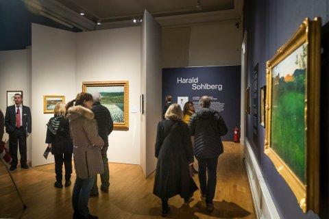 Nasjonalgalleriet hadde utstilling av Sohlbergs verker i fjor. Maleriet Ole A. Halvorsen har kjøpt henger helt til høyre på bildet.