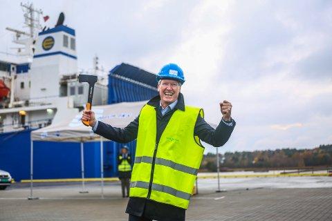 Styreleder Trond Delbekk åpnet den nye kaien til 60 millioner, som gir Borg havn større plass og nye forretningsmuligheter.  Her lå det tidligere Jan-bassenget.