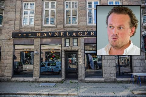Mange firmaer har avbestilt sine julebord, men restaurantkjøkkenet redder Havnelagret, forteller Magnus Fredriksen. (Foto: Felix C. Ellingsrud / Erik Hagen)