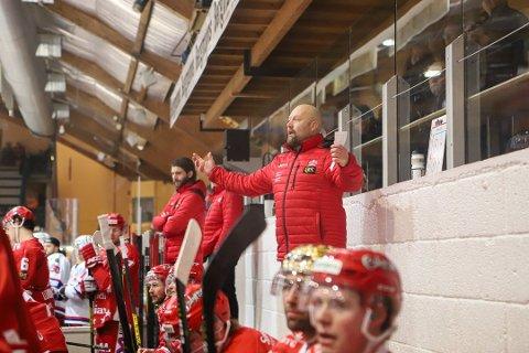 OPPGITT: Stjernens trener, René Hansen var, forståelig nok, skuffet etter et surt tap i Stavanger.