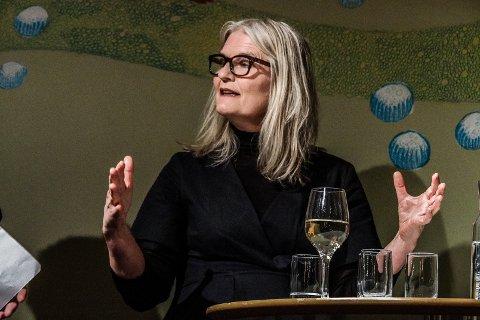 Virksomhetsleder på Blå Grotte/Speilet og St.Croix-huset - Heidi Kulsli - kastet frem spennende tanker på møtet på Litteraturhuset, men understreker at det er hennes personlige tanker og at NTP er et eksempel på et gammelt industriområde som kunne egnet seg for transformasjon til kultur.
