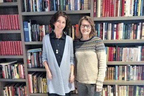 Holdt kurs på Litteraturhuset: Psykologspesialist Elin Fjerstad ved Enhet for psykiske helsetjenester, Diakonhjemmet Sykehus (til venstre), og fagsjef og kognitiv terapeut Trine Giving Kalstad.