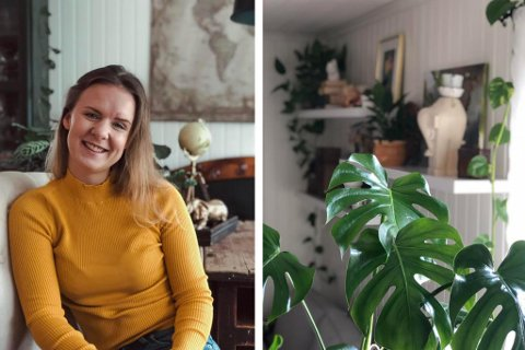 HELT DILLA: Over 3.600 følger Mina Serine Solbakken på Instagram. Der deler hun praktiske tips om både grønne planter og om organisering.