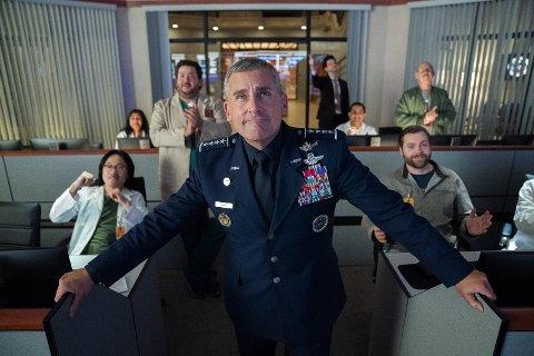Steve Carell som general Mark R. Naird i Netflix-komedien «Space Force».