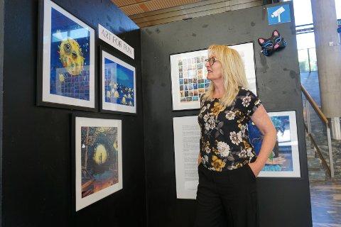 ÅPNER SNART: Leder for Barnas Malekunstsenter, Anne Fredriksen, kan snart ønske velkommen til kunstutstilling.