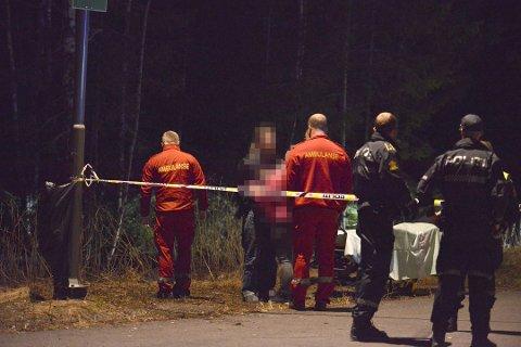 DRAMATISK: Natt til søndag oppsto det basketak mellom en råner og politiet. Mannen er nå anmeldt for vold mot offentlig tjenestemann.