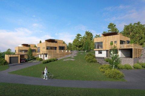 Hvaler kommune har åpnet for funkishus-bebyggelse. Dette er et prosjekt som kommer ved Dypedal på Spjærøy.
