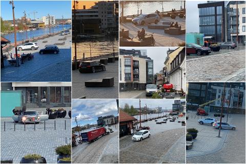 Naboen har tatt en rekke bilder, bare de siste par ukene, som dokumenterer at mange fortsatt parkerer på Dampskipsbrygga.