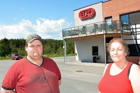 SINTE: Fagforeningsleder Elin Kolloen og Henrik Thomassen. Elko.