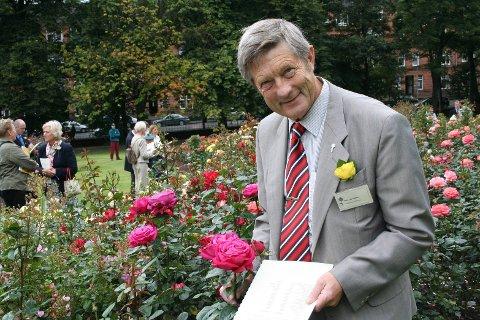JURY: Rein Lae Solberg har reist verden rundt som rosedommer. Her i Glasgow sommeren 2007.