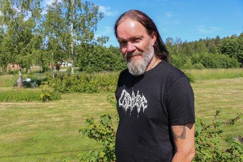 - Jeg har troen på at det går an å ha arrangementer i Råde, sier Anders Odden - mannen bak   Ad Hoc-festivalen. Arkivfoto: Tiril Vik Nordeide