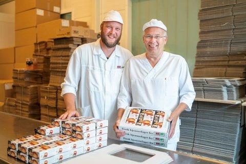 Optimister. Lars Erik Ek (til vernstre) og Joar Ek driver Ek gårdskjøkken i Onsøy sammen med Ingrid Ek.  Firmaet er finaleklar for andre gang.
