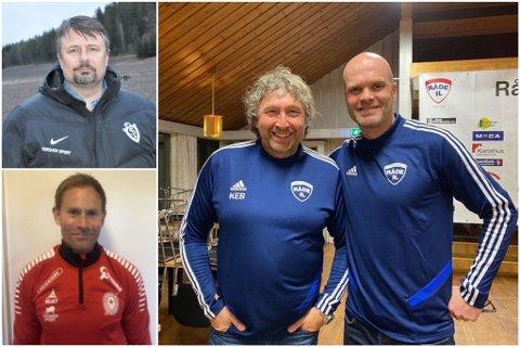 VIL SPILLE: Rino Hansen, Michael Røn og Jan Tore Ophaug (til høyre) er blant de som håper fotballen snart kommer i gang. Foto: Arkiv