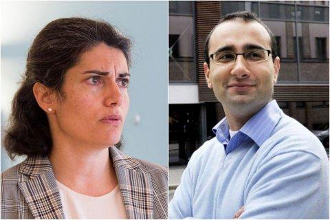 DÅRLIG STEMNING: Det er ingen god tone mellom de to tidligere ektefellene Racha Maktabi og Amir Mirmotahari. Nå har dommen i en av sakene mellom dem kommet.