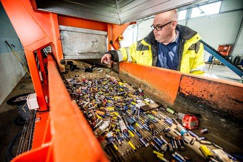 Ekspanderer: Daglig leder Fredrik Andresen i Batteriretur planlegger nå ny fabrikk på dagens tomt på Øra.  (Arkivfoto: Geir A. Carlsson)