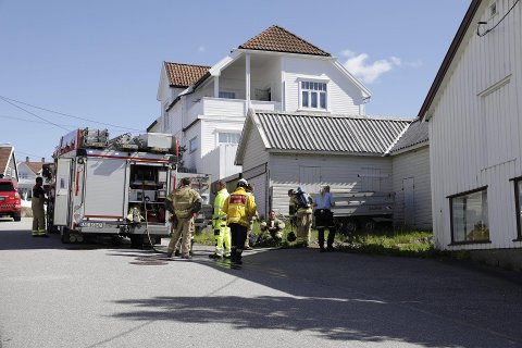 KONTROLL: Brannvesenet fikk raskt kontroll på situasjonen.