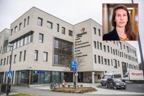 FORNØYD: Kommuneoverlege Sofie Lund Danielsen er godt fornøyd med korona-situasjonen i Fredrikstad akkurat nå. - Den er som vi håpet, og bedre enn vi fryktet, sier hun.