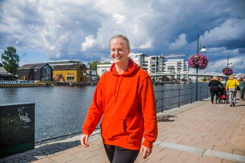 Andrea Johansson har for lengst funnet seg til rette i sin nye hjemby.