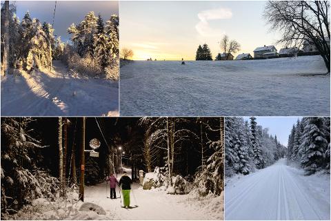 Snømengdene er ikke de største, men mulighetene for en skitur er absolutt til stede flere steder i gamle Østfold.