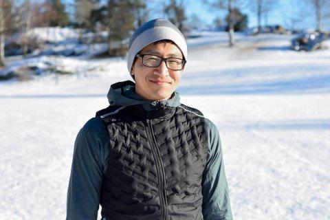 IVRIG: Håkon Haug Urdal motiveres av tanken på å forbedre maratontiden.