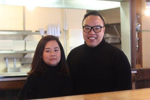 Hoang Le (33), kona Trang Huyen Thi Thach (28) og datteren Leah (16 mnd) flyttet fra Fredrikstad til Svelvik.