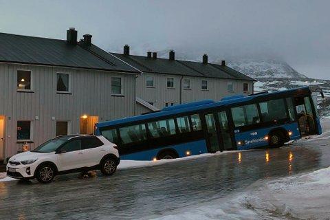 UHELDIG: Her ble Boreal sin buss stående.
