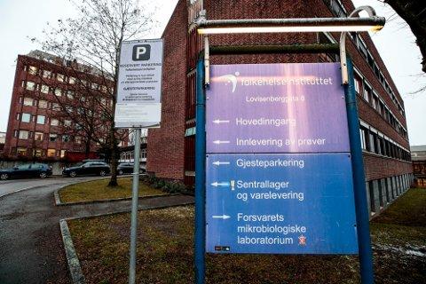 Oslo 20200131.  Folkehelseinstituttet er et norsk statlig forvaltningsorgan underlagt Helse- og omsorgsdepartementet og ligger i Oslo. Foto: Lise Åserud / NTB