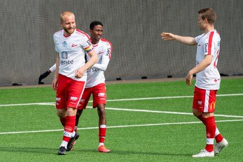 Åpnet scoringskontoen: Henrik Kjelsrud Johansen satte inn sine to første mål for 2021 mot Strømsgodset.