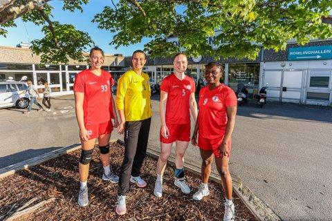 Runa Heimsjø Sand (til venstre), Caroline Martins, Ingeborg Furunes og Candy Jabeth er alle nye i FBK-drakten.