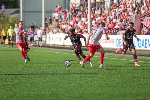 Tafoeek Ismaheel var FFKs beste spiller mot Strømmen på onsdag.