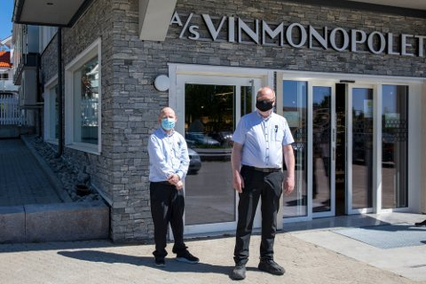 Sjur Hansen (t.h.) og Jon Fredrik Nyland kunne i mai ønske kundene velkommen i nye lokaler. (Arkivfoto: Ida Christin Foss)