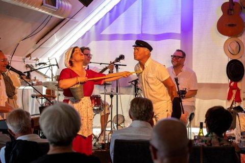 Nissa Nyberget, Hege Klevås Johannessen, Lars Klevstrand,  Hermund Nygård og Rino Johannessen fra premieren 26. juni.