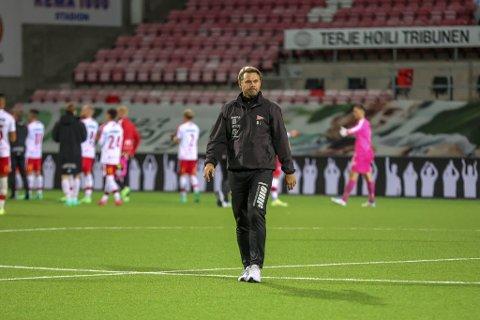 Bjørn Johansen, her fotografert etter kampen mot Start, er tilbake i Fredrikstad etter fem dager på kurs.