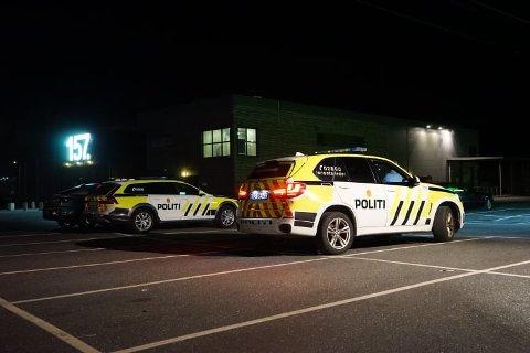 Fra politiaksjonen tirsdag kveld  i Dikeveien.