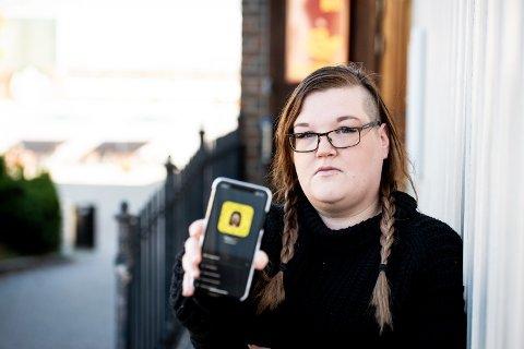 HAR FÅTT NOK: Therese Bråthen mener det må kunne gå an å ha vennskapelig kontakt med gutter på Snapchat uten at hun skal bli bombardert  med penisbilder.