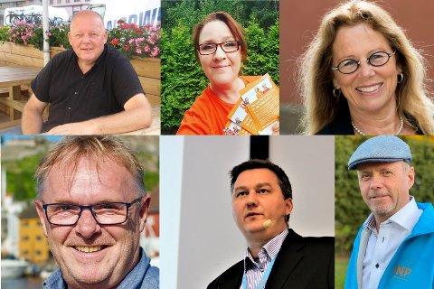 Noen av førstekandidatene til partiene som i dag befinner seg et godt stykke unna sperregrensen. Nedover i saken blir du bedre kjent med dem og hva som er det viktigste for dem.