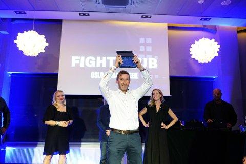 Mathis Grimstad, administrerende direktør i Stor-Oslo Eiendom, tok imot prisen som årets byutvikler.