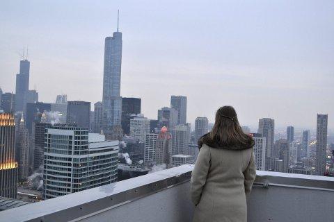 SKYLINE: Med utsikt over Chicago. Alle foto: Privat