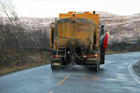 STATLIGE VEIER SALTES: Det konkluderer det svenske Trafikverket om når det gjelder Kiruna kommune. Foto: Odd-Georg H. Benjaminsen.